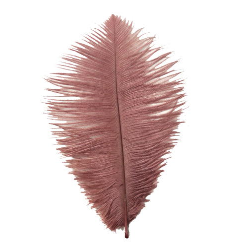 Ostrich Feather Drab 6-15cm x 5 - Vintage Mauve ((SECONDS))