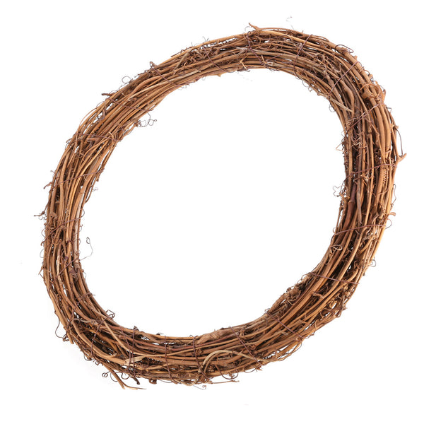 Natural Thick Grapevine Wreath Hoop Large 13""