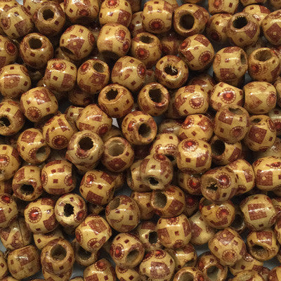 Style 3 Round Wooden Beads 10x10mm x 10