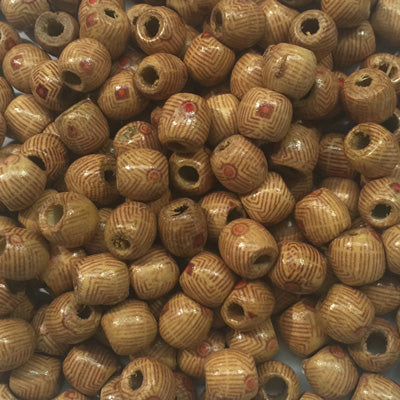 Style 5 Round Wooden Beads 10x10mm x 10