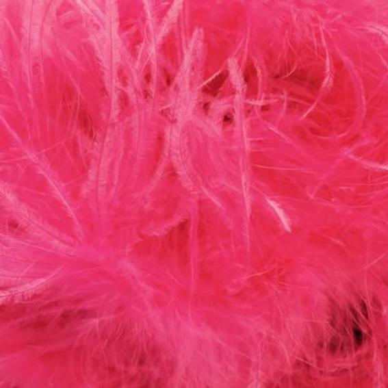 Ostrich & Marabou Feather Boa - Vibrant Pink
