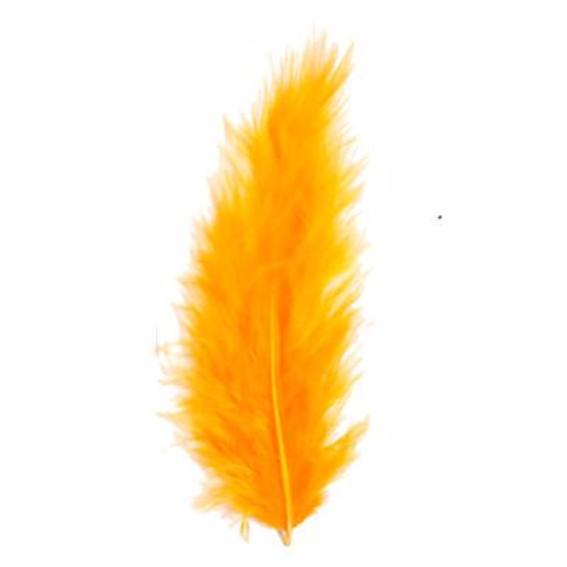 Fluffy Marabou Feather Plumage Pack 10 grams - Orange