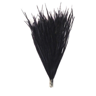 Ostrich Feather Pincher - Black