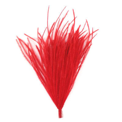 Ostrich Feather Pincher - Red