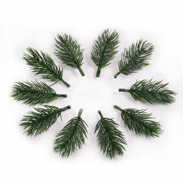 Artificial Christmas Pine Needle Picks x 10 pcs - Green