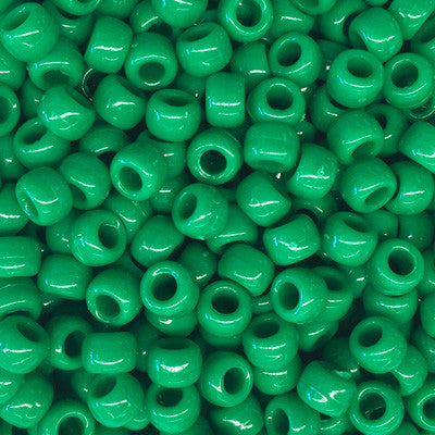 Green Plastic Beads 9mm x 10