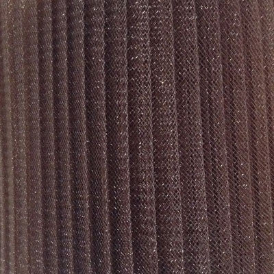 "Crinoline 15cm (6"") PLEATED per metre - Chocolate Brown"