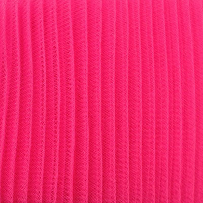 "Crinoline 15cm (6"") PLEATED per metre - Hot Pink"