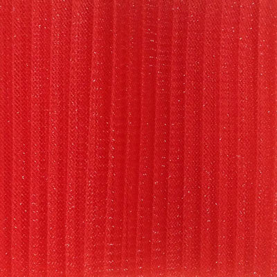 "Crinoline 15cm (6"") PLEATED per metre - Red"