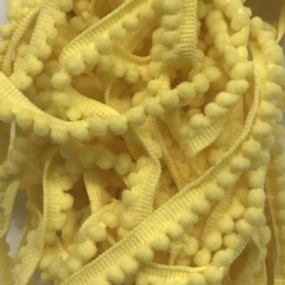 Yellow Pom Pom Trimming per mtr