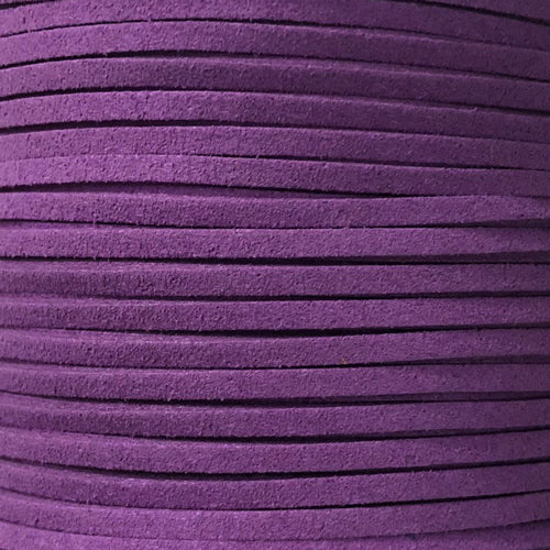 Purple Faux Suede Leather Cord per metre