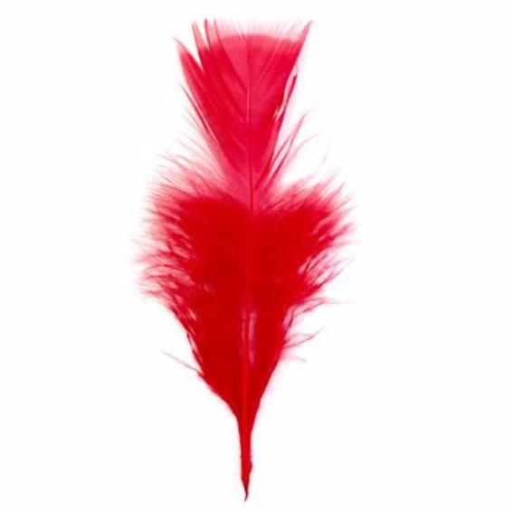 Flat Top Marabou Feather Pack 10 grams - Red
