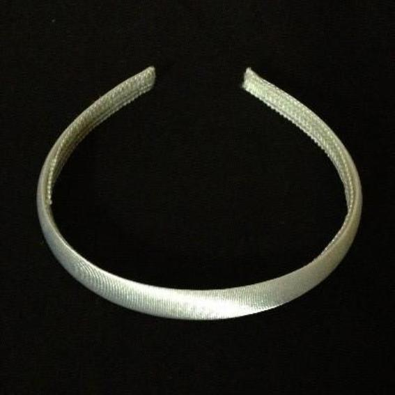 Satin Covered Headband 15mm - Ivory
