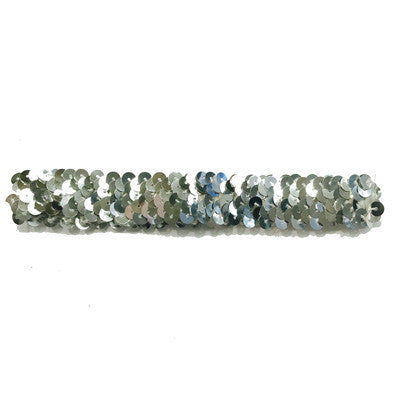 Silver Sequin Elastic Stretchy Headband - Baby / Kids