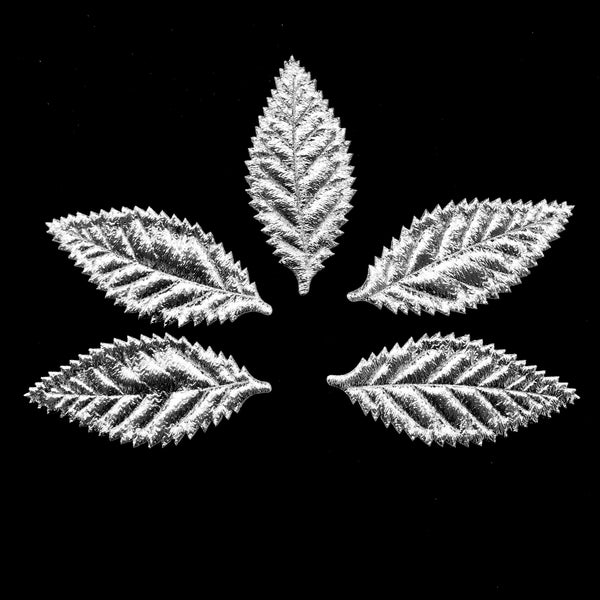 Style 2 Silver Leaf Applique x 5