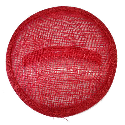 Fascinator Sinamay Round Millinary Hat Base x 5 - Red