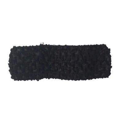 "Black 1 1/2"" crochet headband"