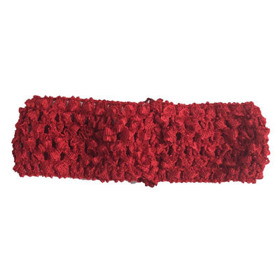 "1 1/2"" Red Crochet Headband"