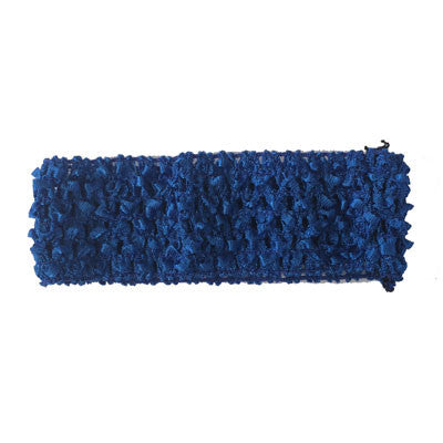 "1 1/2"" Royal Blue Crochet Headband"
