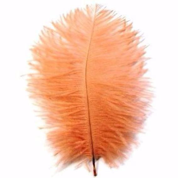 Ostrich Feather Drab 6-15cm x 5 - Apricot ((SECONDS))