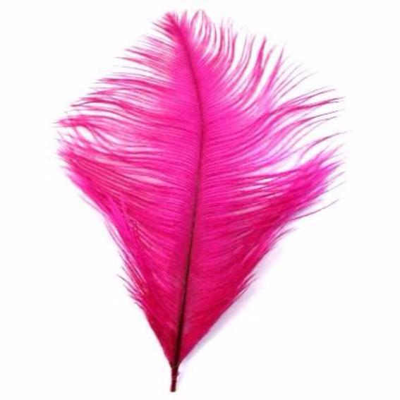 Ostrich Feather Drab 6-15cm x 5 - Cerise ((SECONDS))