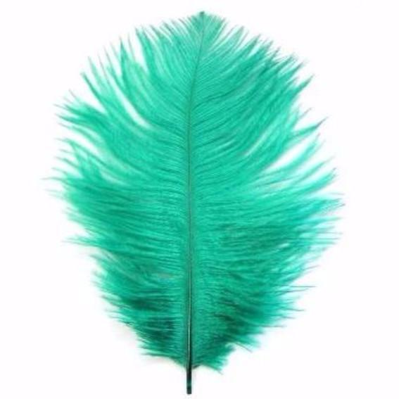 Ostrich Feather Drab 6-15cm x 5 - Apple Green ((SECONDS))