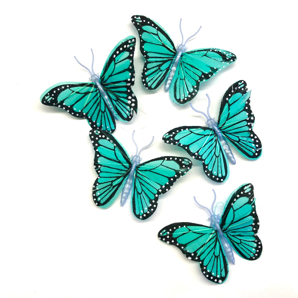 Feather Butterflies Style 4 MINI 5 Pack - Spearmint