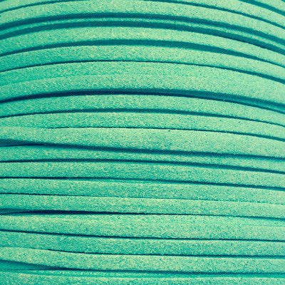 Spearmint Faux Suede Leather Cord per metre