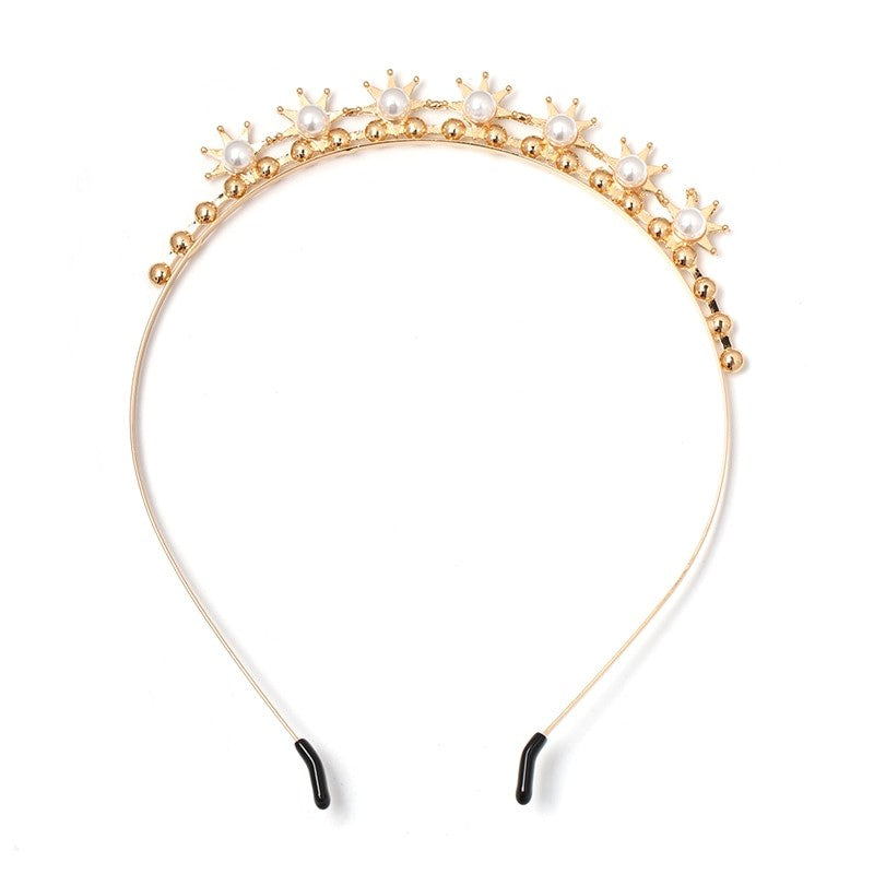Crystal Tiara Bridal Racewear Crown Headdress Headband - Style 1