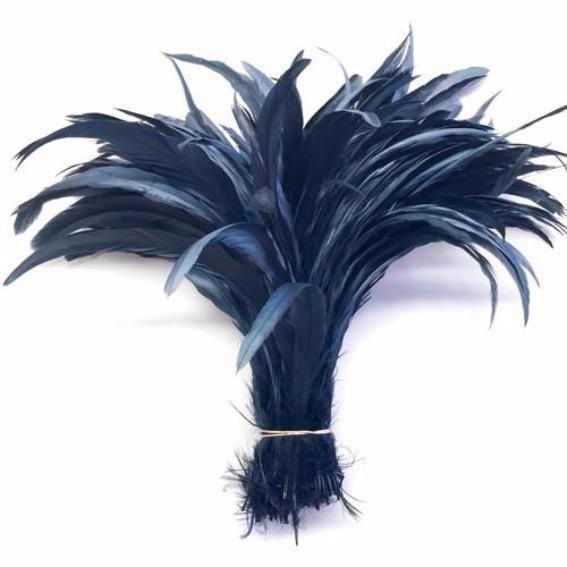 "10/12"" - 280mm Steel Blue Coque Tail ((SECONDS)) Feathers - 10 grams"