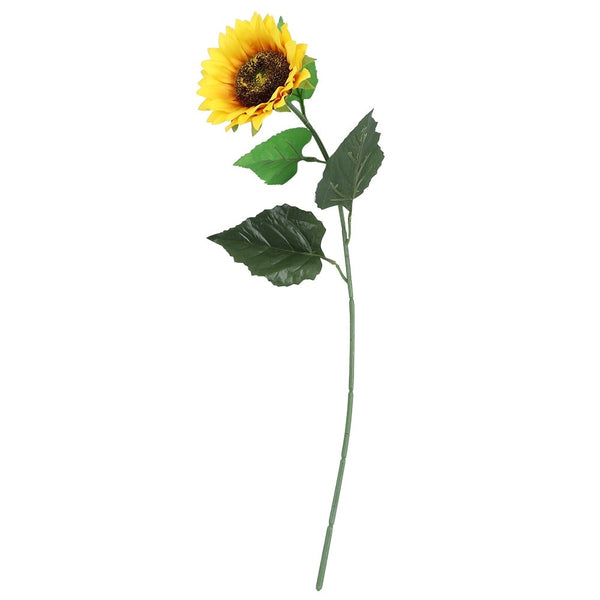 Artificial Silk Sunflower Flower Stem - Yellow (Style 2)