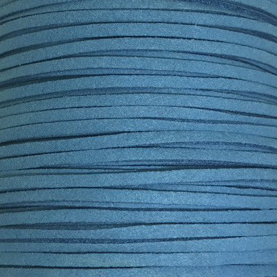 Teal Faux Suede Leather Cord per metre