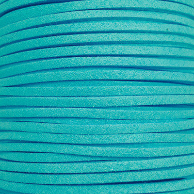 Turquoise Faux Suede Leather Cord per metre