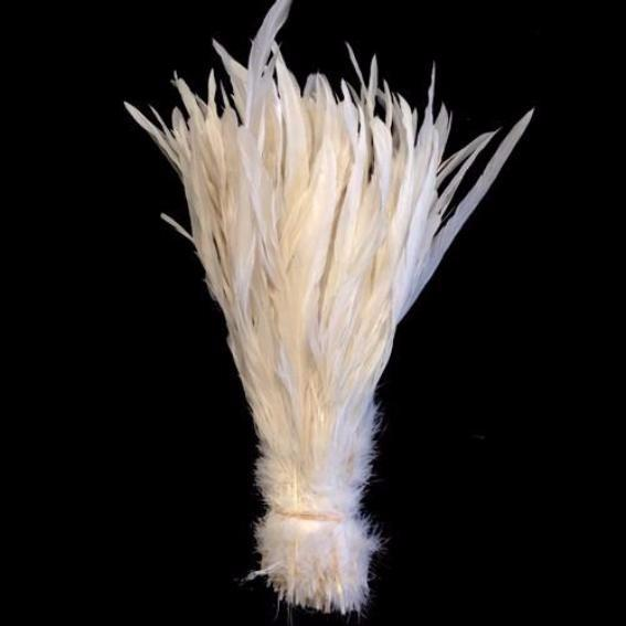"10/12"" - 280mm White Coque Tail Feathers ((SECONDS)) - 10 grams"