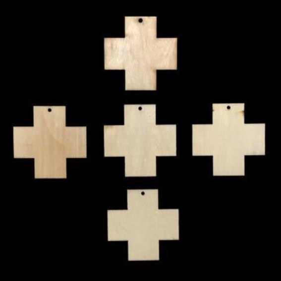 Cross Unfinished Wood Tile