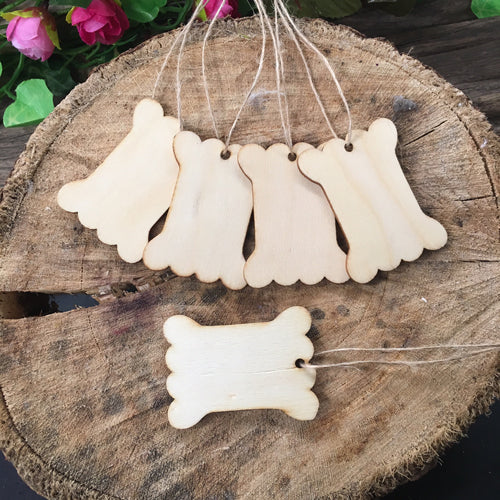 Natural Wooden Price / Gift Tag x 5pcs