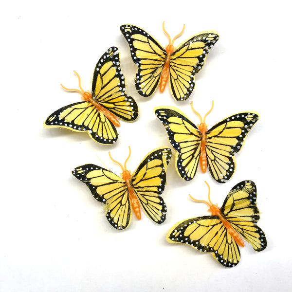 Grey Feather Butterflies Style 4 MINI 5 Pack