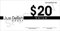 $20 Jus Delish Group  Festive Gift Vouchers