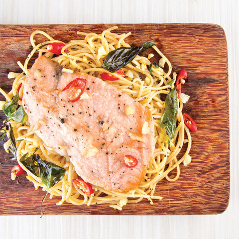 Salmon Tom Yum Pasta