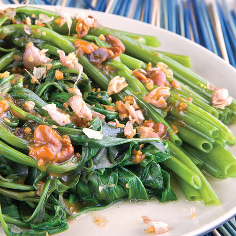 Stir Fried Morning Glory with Thai Fermented Bean Sauce