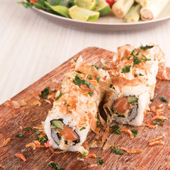 Thai Spicy Salmon Rice Roll