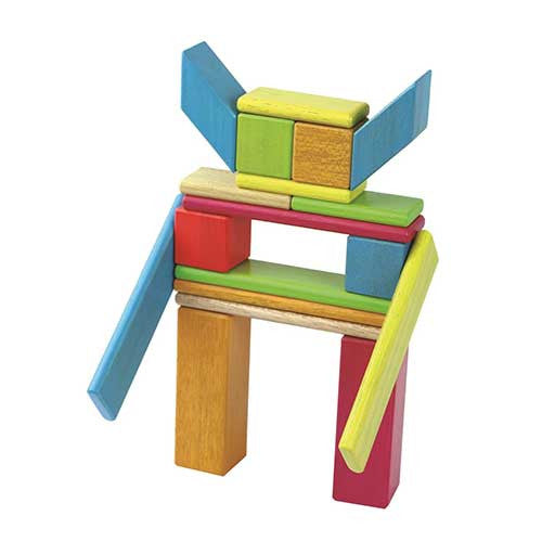 28 piece Magnetic colorful wooden blocks