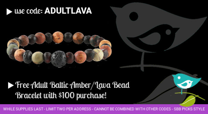 Free adult Baltic amber bracelet with purchase