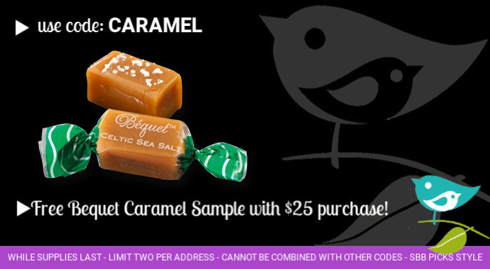 Free gourmet caramel with purchase