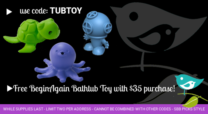 Free bathtub toy with purchase