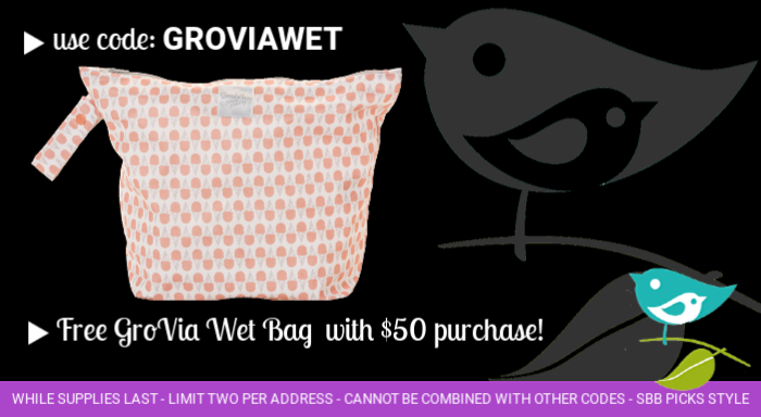 Free GroVia wetbag with purchase