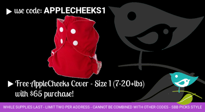 Free AppleCheeks cover with purchase