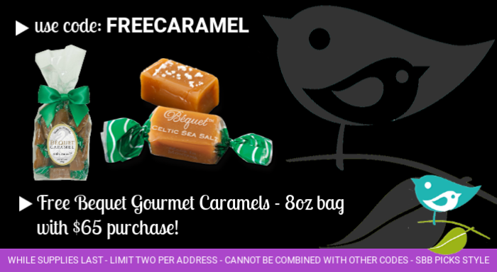 Free Bequet caramels with purchase