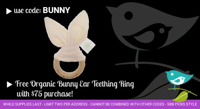 Free Organic Teething toy with purchase