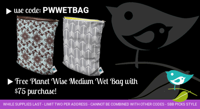Free Planet Wise wet bag with purchase